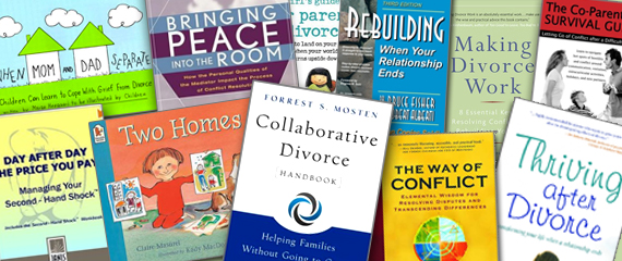 Covers of books we recommend to help you through the divorce process