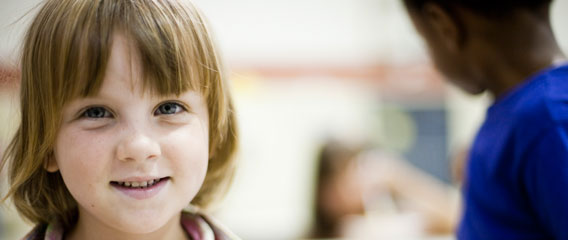 Young girl helped by Second Harvest